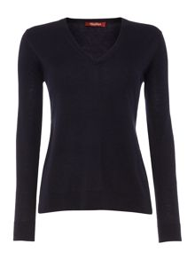 Max Mara V neck long sleeve basic jumper