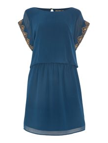 Biba Beaded tabard dress