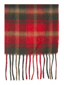 Howick Check Fine Knit Scarf