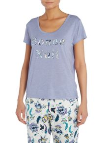 Dickins & Jones Bonne Nuit Print PJ Top