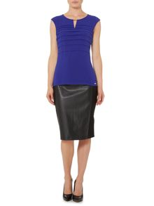 Episode Pleated front top with buckle