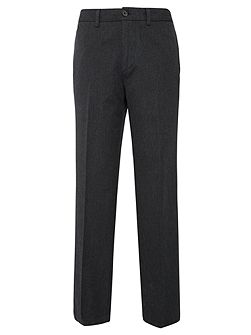 Men's Howick Albert Textured Canvas Straight Fit Trousers