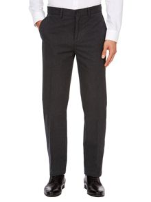 Howick Albert Textured Canvas Straight Fit Trousers