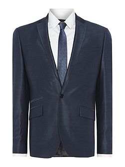 Pinsent Tonic Silk Suit Jacket with Jet Pockets