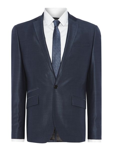 Kenneth Cole Pinsent Tonic Silk Suit Jacket with Jet Pockets