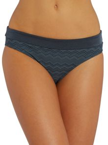 Zig Zag Fold Over Bikini Brief