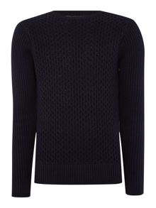 Duck and Cover Clinton Crew Neck Cable Knitwear