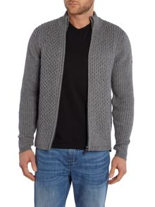 Duck and Cover Quarry Zip-thru Knit