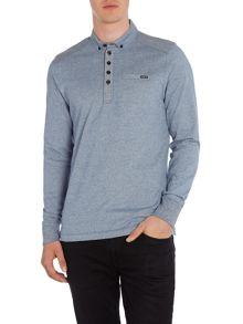 Duck and Cover Harmon long sleeve polo shirt