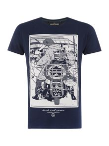 Rocks s/s crew neck graphic t-shirt