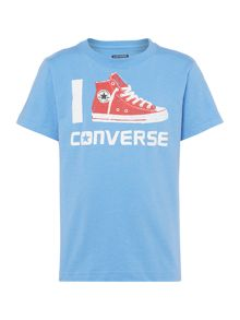Converse Boys Short Sleeved 1 Shoe Graphic Tshirt