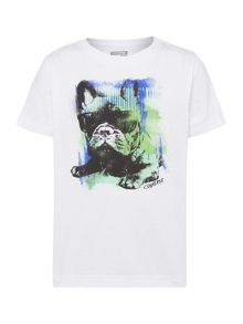 Boys Short Sleeved Dog Graphic Tshirt