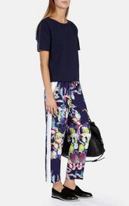Floral Print Sporty Trousers