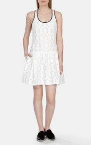 Karen Millen Relaxed Dropped Waist Jacquard Dress