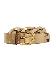 Lauren Ralph Lauren Cowhide gold belt