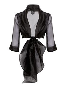 organza wrap jacket with 3/4 sleeves