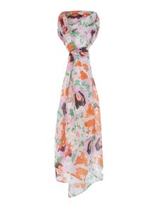 Dickins & Jones Poppy Floral Silk Scarf