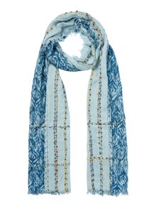 Linea Weekend Turquoise Weave Textured Scarf