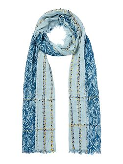 Turquoise Weave Textured Scarf
