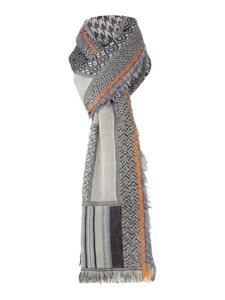 Linea Weekend Colourflash Jacquard Wool Mix Scarf