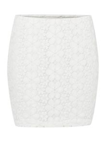 Vero Moda Floral Tube Lace Skirt