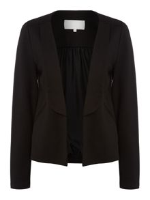 Relaxed tailored ponte jacket
