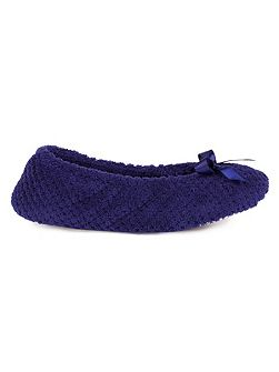 Popcorn ballet slipper with satin bow