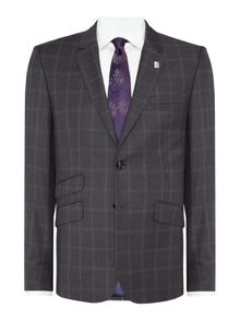 Modcor Shadow Window Pane Check Slim Fit Suit
