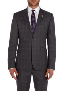 Ted Baker Modcor Window Pane Check Slim Fit Suit Jacket