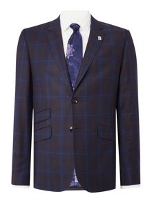 Ted Baker Modbox Check Slim Fit Suit Jacket