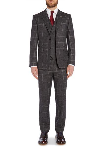 Ted Baker Modbea Prince Of Wales Window Pane Check Slim Fit