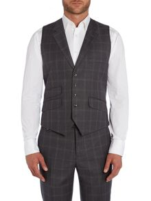 Modcor Shadow Window Pane Slim Fit Waistcoat