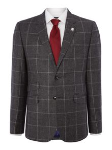 Ted Baker Modbea Window Pane Check Slim Fit Suir Jacket