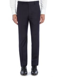 Gentel Slim Fit Mini Grid Check Trouser