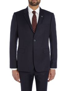 Gentel Mini Grid Check Slim Fit Suit Jacket