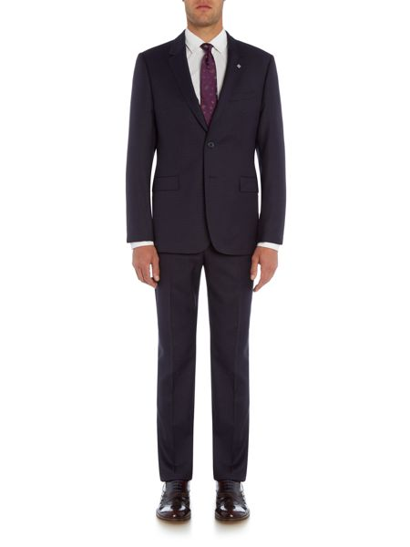 Ted Baker Gentel Mini Grid Check Slim Fit Suit Jacket