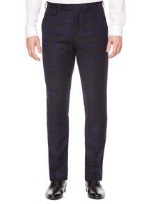 Modbox Faded Blue Check Slim Fit Trouser