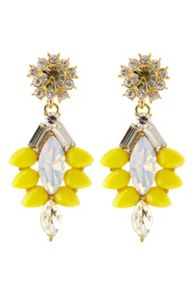 Yellow sparkle earring