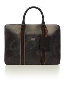 Printed Leather Briefcase