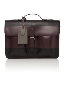 Leather Striped Satchel