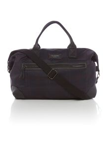 Check Print Holdall Bag