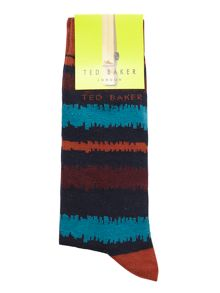 Ted Baker Stripe Dress Socks