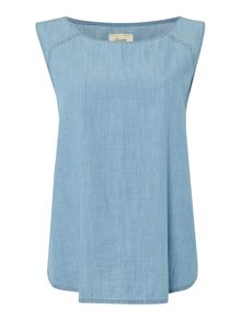Linea Weekend Sleeveless chambray top