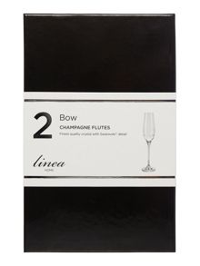 Linea Toasting flute bow set of 2