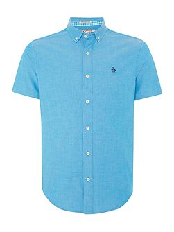 Plain Classic Straight Up Short Sleeve Button Dow