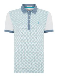 Checker Front Regular Fit Polo Shirt