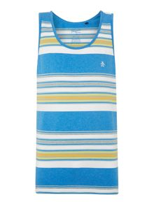 Tic Heatherstripe Tank Regular Fit T-Shirt