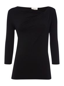 Linea Twist cowl plain jersey top