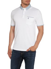 Check Collar Regular Fit Polo Shirt