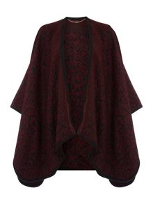 Jacquard leopard felted cape